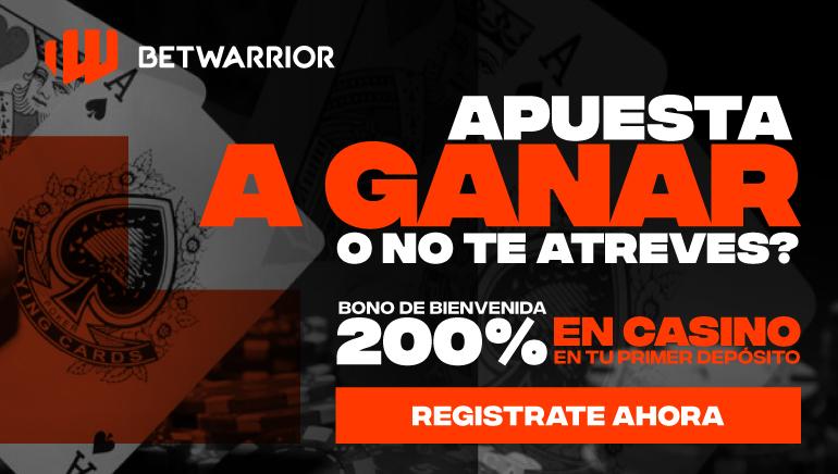 BetWarrior brinda a los jugadores peruanos un bono del 200% en su primer depósito