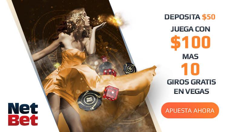 Los nuevos miembros de NetBet Casino recibirán un bono de bienvenida del 100% más 10 tiros libres en la sección Vegas
