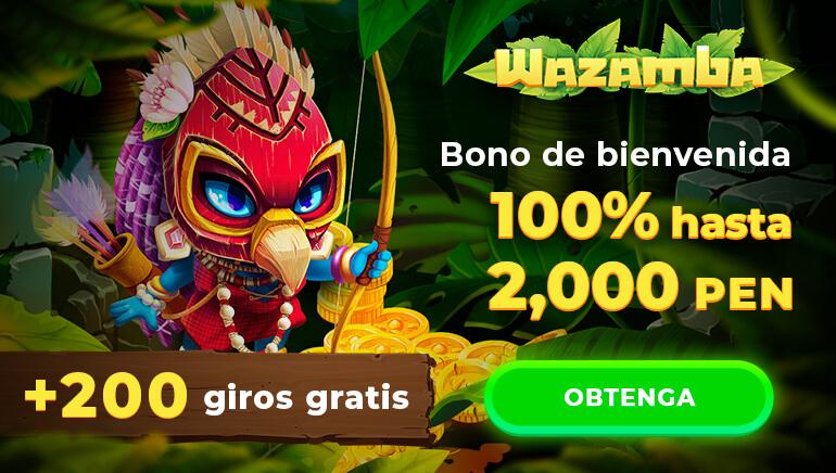 Casino Wazamba - regístrate y recibe hasta 2000 nuevos peruanos